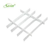 Saim Practical White Plastic DIY Home Grid Drawer Divider Storage Organiser 6 Pcs