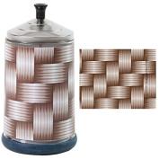 Salon Skins Decorative Barbicide Jar Wrap Basketweave