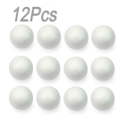 Lieomo 12Pcs 67mm Polystyrene Foam Ball Christmas Party decoration DIY Craft Adornment