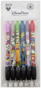 Disney Parks - Mickey & Gang Cuties 6 Pack Pen Set - Black Ink - Rubber Grip