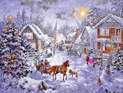 """Arts Language Frameless 24""""x31.5"""" Paint by Numbers Diy Painting-Christmas 60x80cm"""