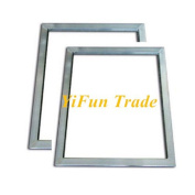 "YiFun Trade 2pcs 20x30cm (8""x12"") Silk Screen Printing Aluminium Frame"