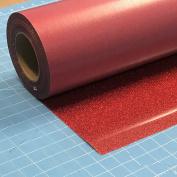 Siser Glitter Red 50cm x 0.9m Iron on Heat Transfer Vinyl Roll