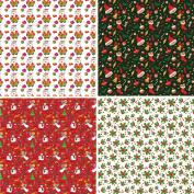 FOUR 30cm x 30cm Blinggasm Vinyl Sheets Set,Christmas, Santa Pattern Outdoor Vinyl 055