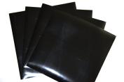 PU flex BLACK Heat Transfer Vinyl (HTV) for T Shirts garments bags and other fabrics - 4 PU flex Sheets 25cm X 25cm - Iron on Vinyl for T Shirts