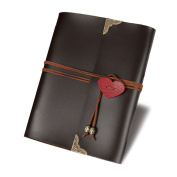 Joyoldelf DIY Leather Photo Album, Hand Made Scrapbook Photo Album for Wedding Birthday