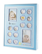 """FaCraft Photo Album Printed """"Baby"""" Holds 240 Slots 4x6 Photos Scrapbooking with Gift Storage Box"""