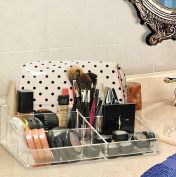 Clear acrylic makeup organiser, great for supplies & brushes, keeps everything organised and neat, at your fingertips, easy to clean