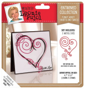 Leonie Pujol Entwined Collection Funky Heart Set Hearts And Swirls Metal Die