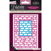 Die'sire Create a Card Lace Die + Emboss Metal A6 - Another Brick in the Wall
