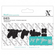 Xcut (Docrafts) Mini Sentiment Paper Card Craft Die (3pcs) - Just For You