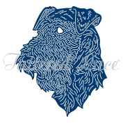 Tattered Lace Airedale Terrier Cutting Dies ETL576