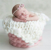 Interesting Newborn Baby Photography Photo Props Faux Wool Basket Stuffer Blanket Rug