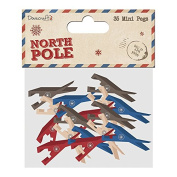 Dovecraft Christmas North Pole Paper & Craft Collection - Mini Pegs
