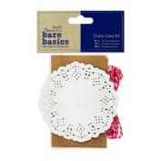 Papermania Bare Basics Craft - DIY Brown Kraft Doily Cards + Envelope Kit