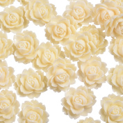 18x14mm Rose Flower Embellishments Cabochons Cabochon Resin Flowers Scrapbooking Flatback For Home Decoration And Other Diy Hand Craft Accessories 50 Pcs
