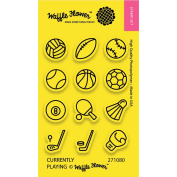 Waffle Flower Crafts Clear Stamps 5.1cm x 7.6cm -Currently Playing