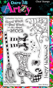Dare 2B Artzy Good Witch Shoes (16222) Clear Cling Rubber Stamps