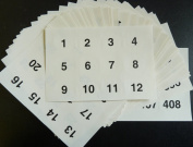 Minilabel Clear 40Mm Round Consecutive, Sequential Number Sequence Labels, Numbering Stickers, From 1408