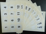 Minilabel White 40Mm Round Consecutive, Sequential Number Sequence Labels, Numbering Stickers, From 1120
