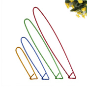BoNaYuanDa 8pcs Colourful Aluminium Yarn Stitch Holder Crochet Hooks Knitting Needle Stitch Holders