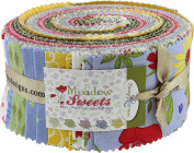 Jill Finley Meadow Sweets Rolie Polie 40 6.4cm Strips Jelly Roll Penny Rose Fabrics
