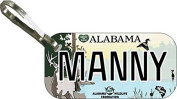 Personalised Alabama Wild 2 Zipper Pull State Licence Plate Replica