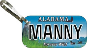 Personalised Alabama Wild Zipper Pull State Licence Plate Replica