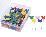 JoyFamily 200 Pieces Flat Butterfly Head Pins Boxed