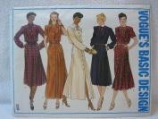 Vintage Vogue Pattern 2208 - Misses Dress (Size 16) - Vogue's Basic Design Series