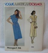 Vintage Vogue Pattern 2096 - Misses Dress or Jumper and Belt (Size 16) - Vogue American Designer by Blassport Ltd.