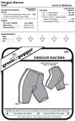 Oregon Biking Riding Bicycle Shorts #409 Sewing Pattern