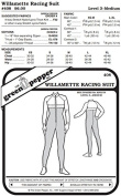 Willamette Racing Running Sport Suit #408 Sewing Pattern