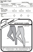 Sport Tights Capris Leggings Pants #406 Sewing Pattern (Pattern Only) gp406