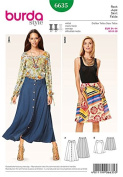 Burda Style Skirt 6635 US sizes 8-18