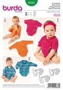 Burda kids 9383 Wrapped Onsie Easy Pattern