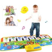Touch Play Keyboard Musical Mat, Iusun Music Singing Gym Carpet Mat Kids Children Educational Toy