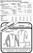 Women's Bicycle Racing Jersey Shirt #401 Sewing Pattern