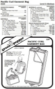 Pacific Curl Garment Bag Luggage #220 Sewing Pattern