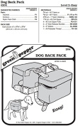 Dog Back Pack Bags #204 Sewing Pattern