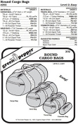 Round Cargo Bags #202 Duffel Gym Travel Cosmetic