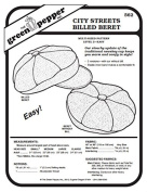 City Streets Billed Beret Hat #562 Sewing Pattern