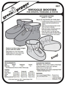 Snuggle Booties Infant Toddlers Youth Slippers Shoes #557 Sewing Pattern