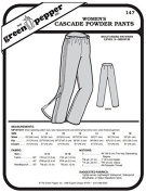 Women's Cascade Powder Snow Pants #147 Sewing Pattern