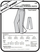 Children's Cascade Powder Snow Pants Kids #146 Sewing Pattern