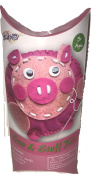 Crafts For Kids Sew & Stuff Kit! Create Your Own stuffed Pig! Includes Felt Pieces, 1 Needle, Yarns, Stuffing, And Wiggly Eyes! Great For Kids!