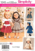 Simplicity 1245 18 inch 45.5cm Girl Doll Clothes Pattern Traditional American supplier_paulastreasuredfinds