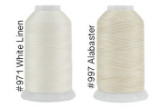 Super Threads King Tut #40/3 Ply Quilting Thread 2,000 per cone BUNDLE of 2 - White Linen & Alabaster