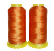 Selric [3000 Yards / 22 Colours Available] Pack of 2 UV resistant High Strength Polyester Thread #69 T70 Size 210D/3 for Upholstery, Outdoor Market, Drapery, Beading, Purses, Leather
