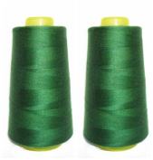 SummerBoom [6000 Yards] 100% Spun Polyester Sewing Thread All Purpose Thread [Size 402 Moss Green] 21 Colours Available